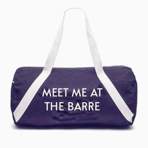 Handbags - 3-for-$30! Meet Me At The Barre Gym Duffel Bag
